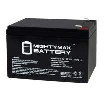 Mighty Max Battery ML15-12 12V 15AH F2 UPS Backup Battery Replaces Vision HP12-65W, HP12-65W Brand Product