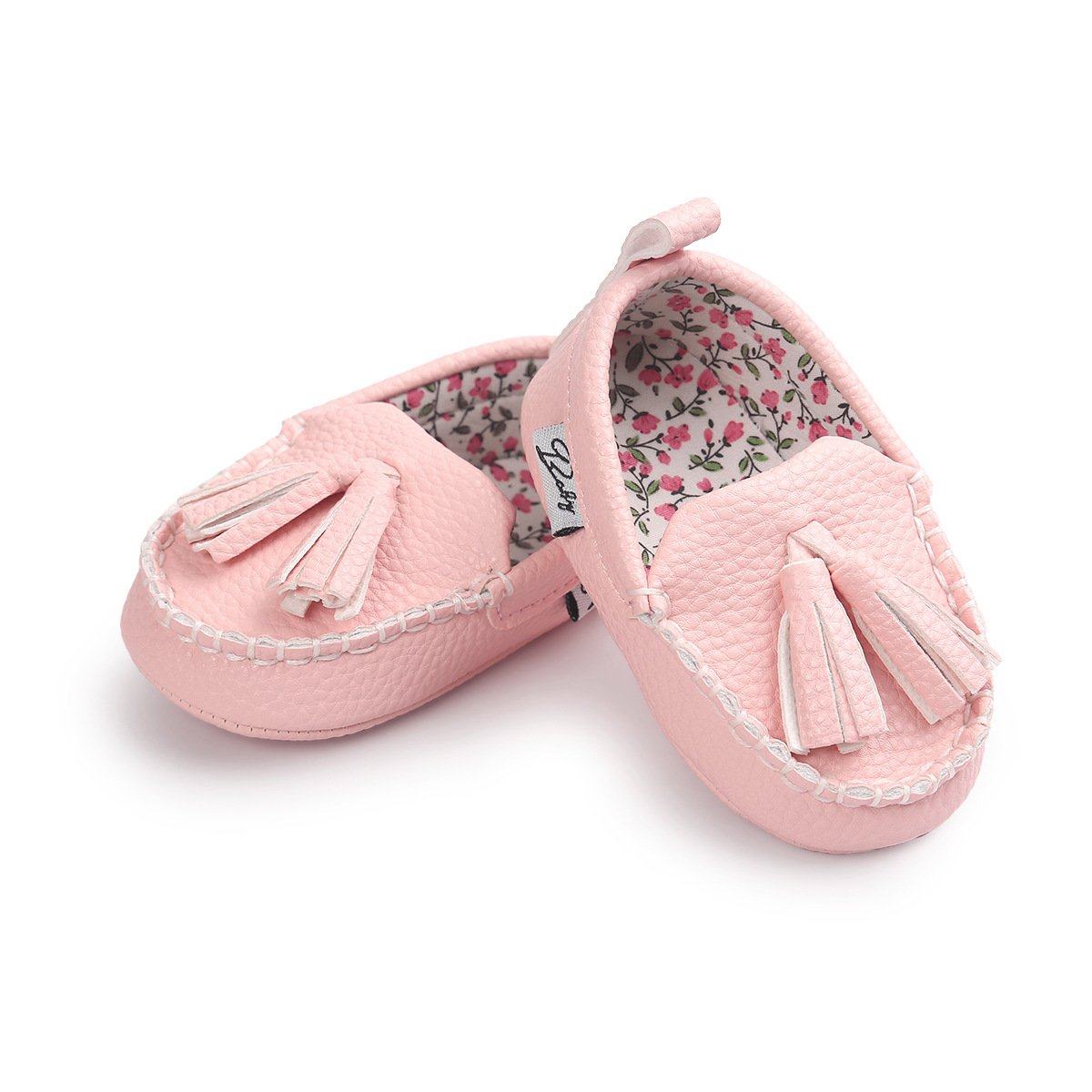 E-FAK Newborn Baby Boys Girls Moccasin Shoes Loafers Dress Flat Crib First Walker Shoes Slippers