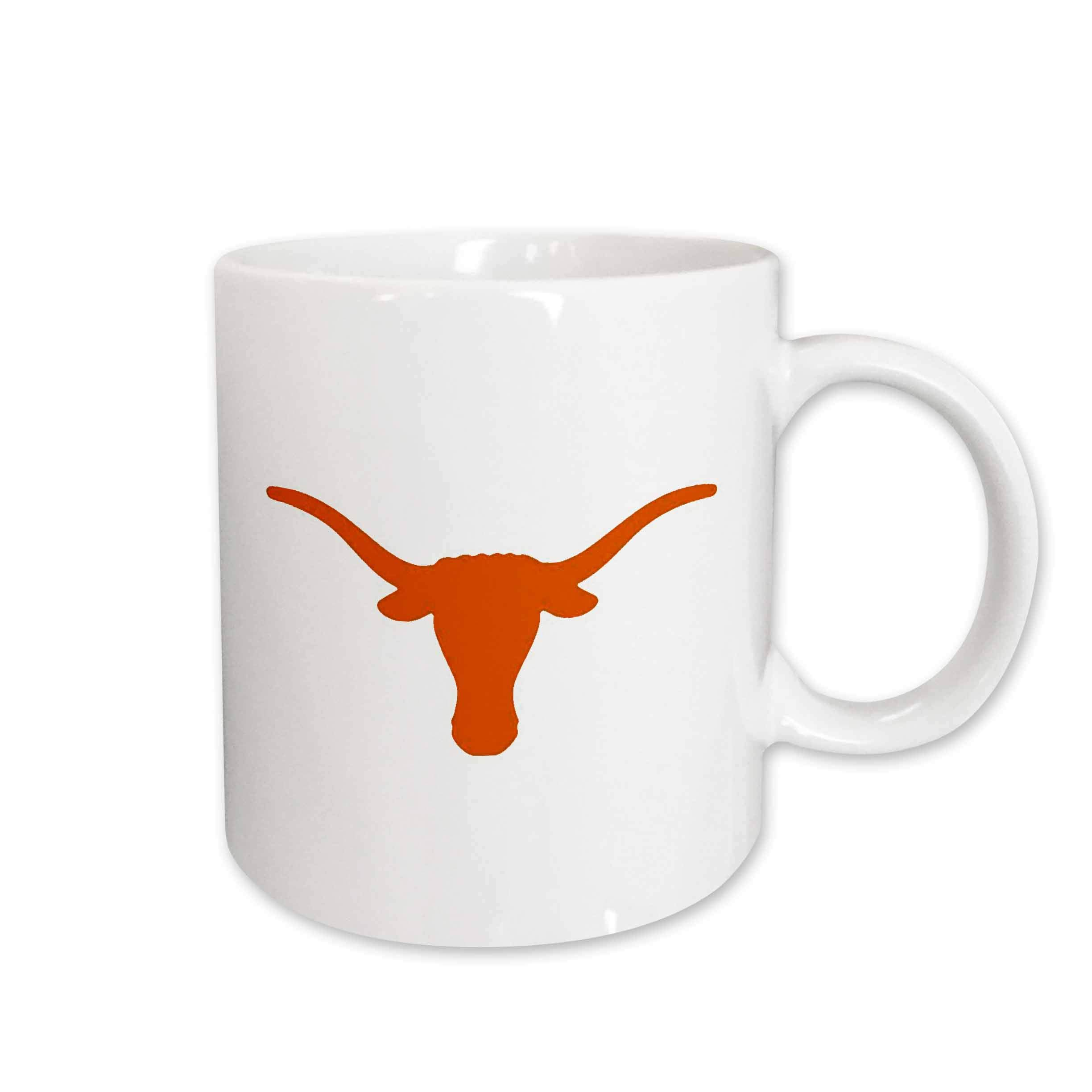 3dRose Longhorns Ceramic Mug, 11-Ounce
