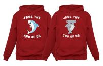 Jaws The Two of Us Valentine's Day Set for Him & Her Matching Couples Hoodies
