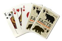 Yellowstone - Facts About Bears - Grizzly and Black Bear (Playing Card Deck - 52 Card Poker Size with Jokers)