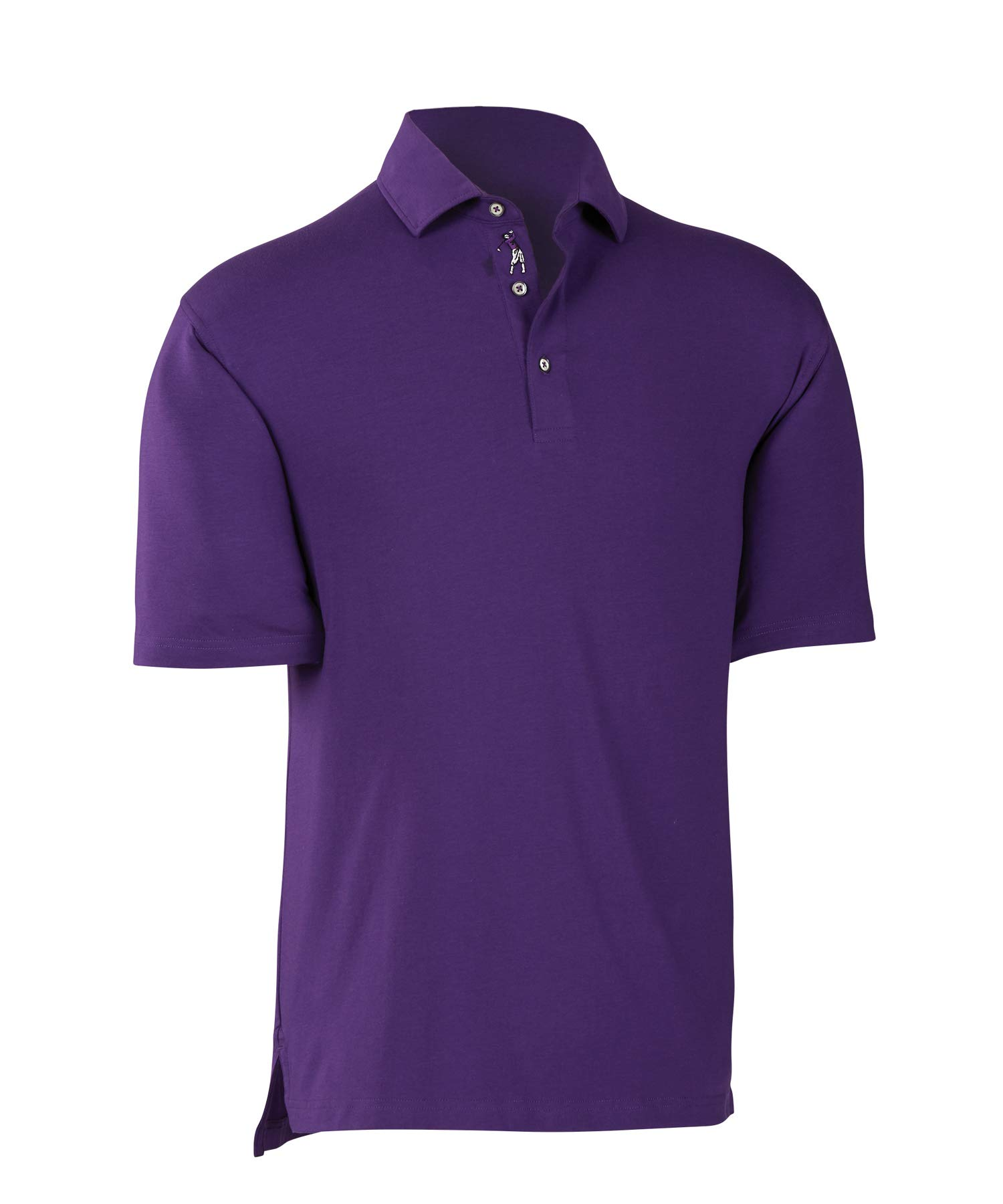 Bobby Jones Golf Polo Shirt - Short Sleeve Solid Polo Shirt for Men - Stretch Liquid Cotton Shirt
