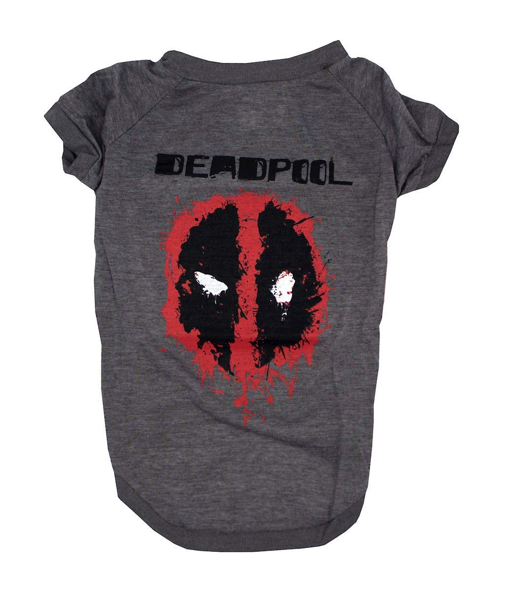 Deadpool Tee For Dogs | Marvel Comics Deadpool Logo T-Shirt for All Dogs | Dog T Shirt Available in Multiple Sizes and Styles, Comfortable and Soft Pet Clothes