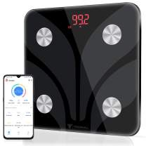 Digital Body Weight Scale, Tenswall Bathroom Scales with Step-On Technology Body Composition Monitor Health Analyzer for Body Weight, Fat, Water, BMI, BMR, Muscle Mass