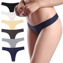 ALTHEANRAY Underwear Seamless Thongs for Women Low Rise G-Strings Thongs Panties