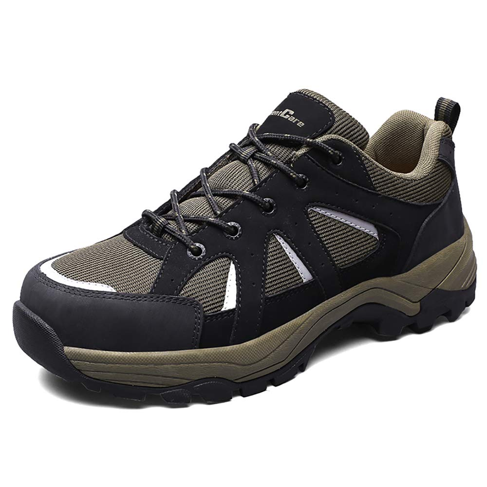 SILENTCARE Indestructible Steel Toe Shoes Men, Safety Work Shoes Reflective Strip Sneakers