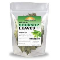 Organic Dried Soursop Leaves by Source Nutrition - Pure Graviola for Tea, Whole Dried Leaves, High in Acetogenins - 2 oz Resealable Bag (Soursop Leaves)