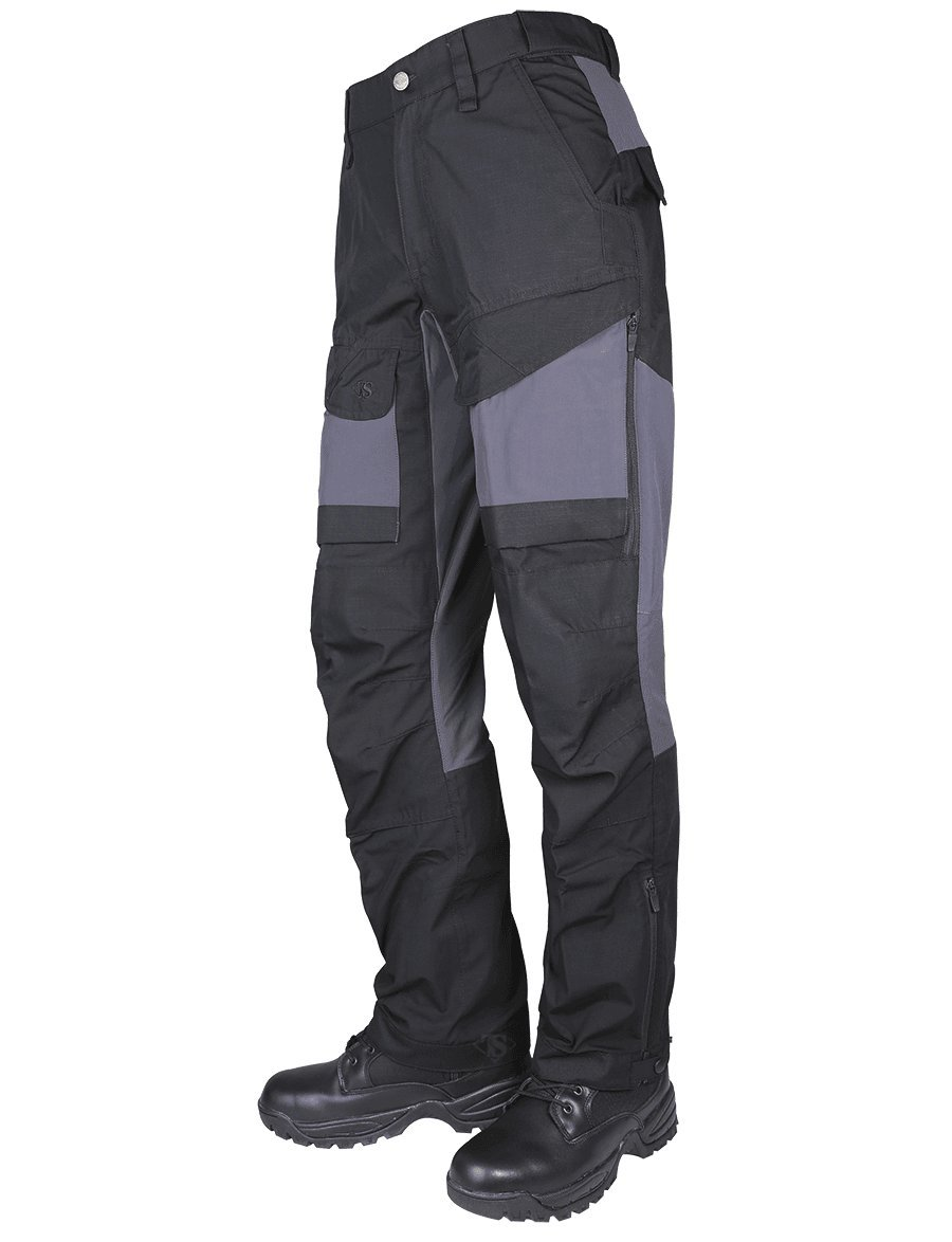 Tru-Spec 1436 24-7 Men's Xpedition Pants, Rip-Stop, Black and Gray