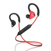 Edifier W296BT Bluetooth 4.1 Sweat and Water Resistant Sports in-Ear Earphones with CVC Noise Suppression and Multi-Point Support - Red