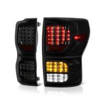 VIPMOTOZ Black Smoke Full-LED Tail Light Lamp Assembly For 2007-2013 Toyota Tundra Pickup Truck, Driver & Passenger Side