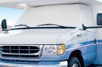 Eevelle Expedition RV Windshield Cover for Class C RV, White (Dodge)