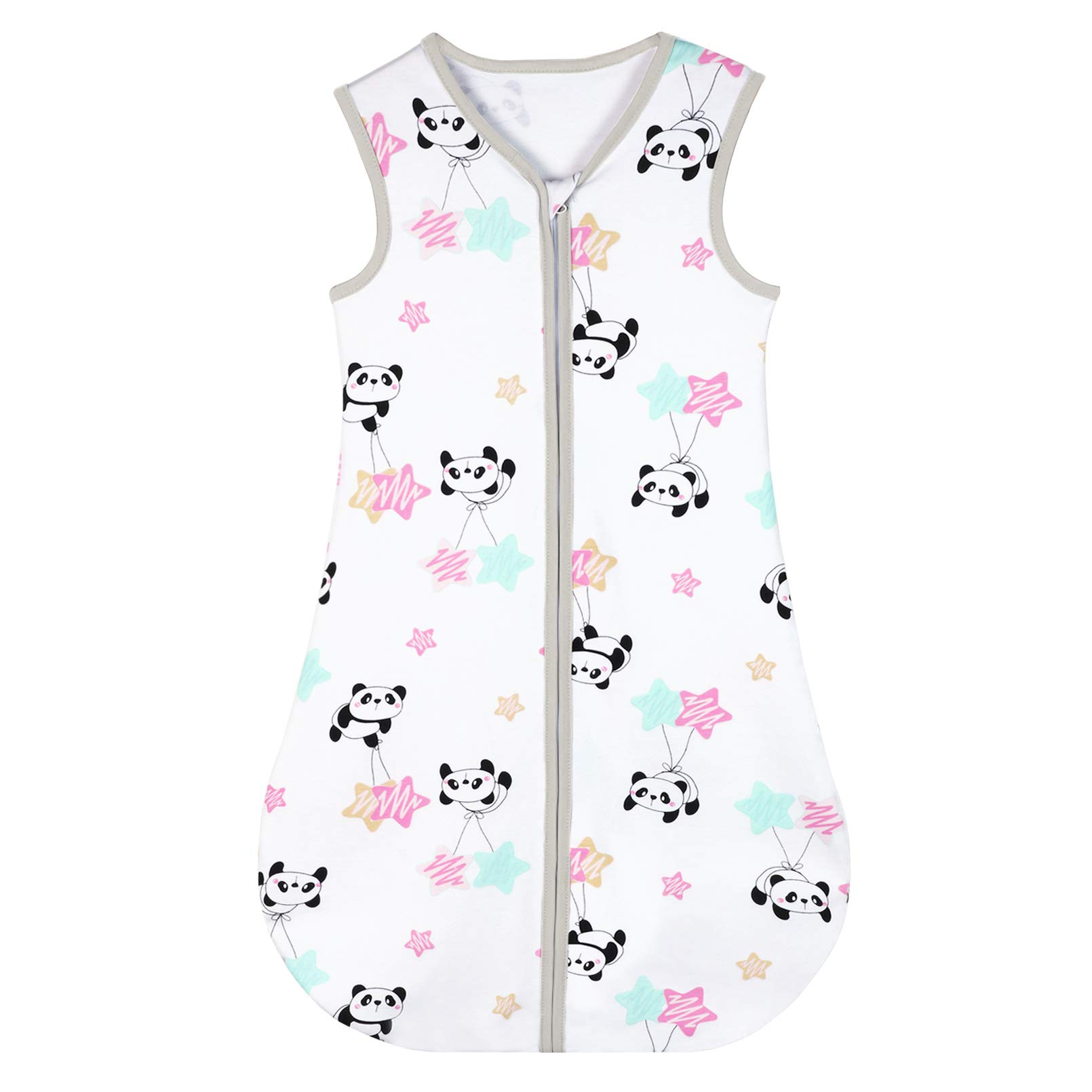 Yoofoss Baby Sleep Sack Wearable Blanket 100% Cotton Baby Sleep Bag 18-36 Month Soft Lightweigt Swaddle Transition Blanket Panda