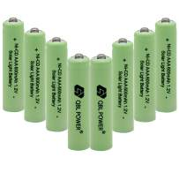 QBLPOWER 1.2V AAA NiCd 600mAh Triple A Rechargeable Battery Cell for Outdoor Garden Landscaping Solar Lights Lamp (8 PCS)