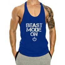 InleaderAesthetics Men's Cotton Fitness Beast Model Stringer Tank Tops