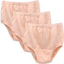 CeeDeek Brief Panties for Women 100% Cotton Underpants Hi-Waist Packs of 3