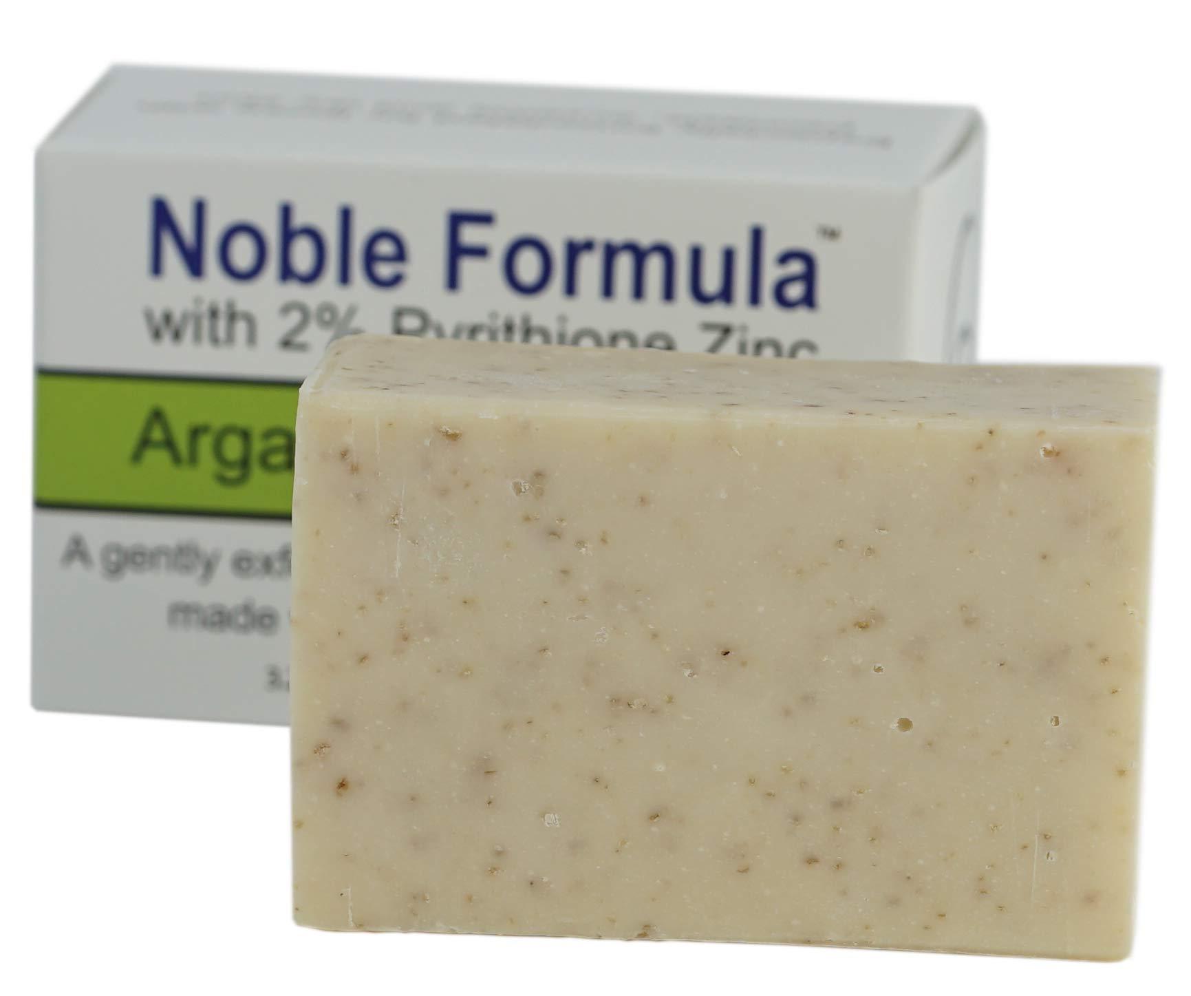 Noble Formula 2% Pyrithione Zinc (ZnP) Argan Oil Bar Soap, (3 Bars in 1 Box), Total 9 oz