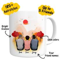 Custom Best Friend Coffee Mug Personalized Photo Gift for Women Men - Customizable Name Cup For Christmas Gifts Friend Besties Friendship BFF Bridesmaid Graduation Birthday Moving Away