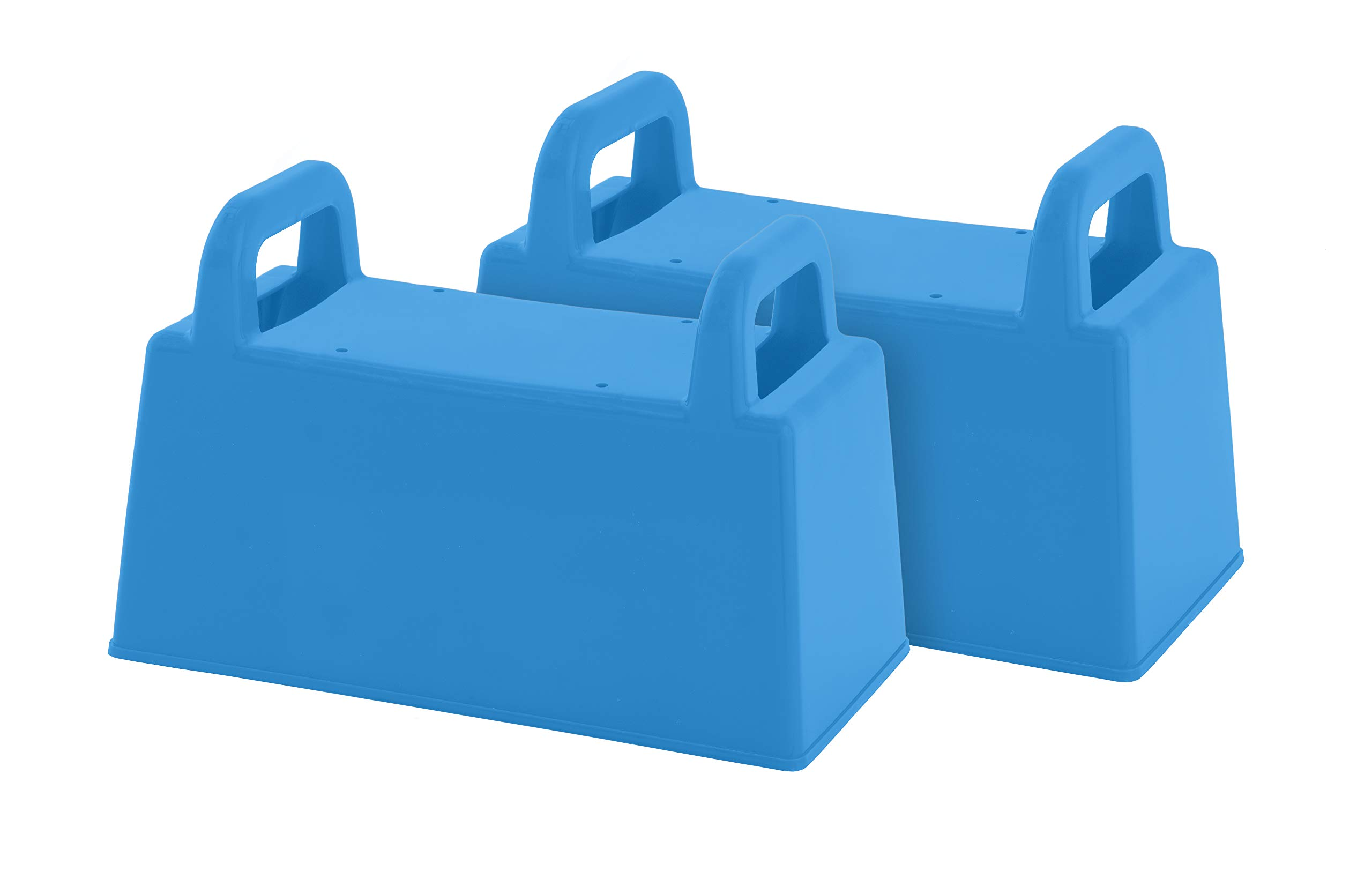 Superio Sand Toy Block Mold & Sand Mold Brick Form Shape - Light Blue Kids Durable Outdoor Toys Winter Snow Fort, Snow Castle, Summer Sand Box, Beach Castle. Sturdy and Well Designed