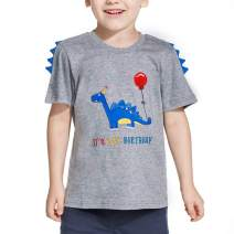 AMZTM Dinosaur Birthday T Shirt - Boy Dino B-Day Themed Party T-Shirt Tee Gift