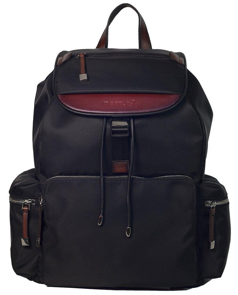 DEPT.8 Unisex Classical Leather Backpack Black