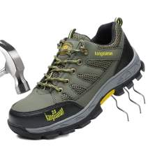 SITAILE Industrial Steel Toe Shoes for Women and Men Slip Resistant Safety Shoes Puncture Proof Work Sneaker Shoes