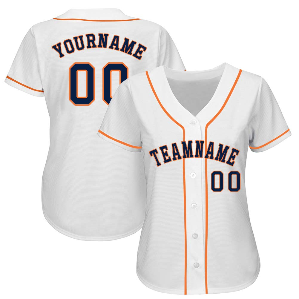 Personalized Women's Short-Sleeve Button-Down Baseball/Softball Jersey Stitched&Printed Custom Team Uniforms