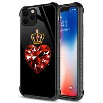 iPhone 11 Pro Max Case, 9H Tempered Glass Queen of Hearts iPhone 11 Pro Max Cases [Anti-Scratch] Fashion Cute Pattern Design Cover Case for iPhone 11 Pro Max 6.5-inch Queen of Hearts