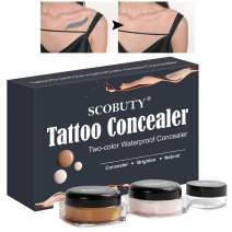 Tattoo Concealer,Waterproof Concealer,Scar Concealer,Concealer Cream,Two Colors Cover Up Make up Concealer Set to brighten skin colour