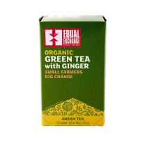 Equal Exchange Organic Green with Ginger Tea, 20-Count