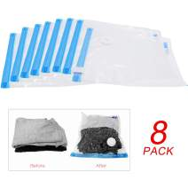 The perseids Vacuum Storage Bags, 8-Pack Large Space Save Bags Reusable Compression Bags for Travel Home Clothes Storage Sorting (14.18x12.6 in)