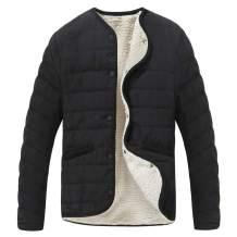 SUNDAY ROSE Women Sherpa Jacket Short Quilted Jacket Color Black
