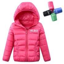 LISUEYNE Boy's Lightweight Packable Down Jacket Hooded Winter Coat for Girls
