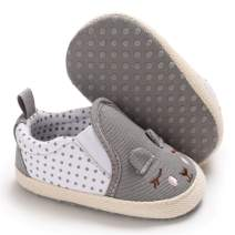 LAFEGEN Toddle Baby Girls Boys Shoes Infant Newborn Non-Slip Soft Sole Canvas Sneaker First Walker Crib Moccasins Casual Cute Flat Lazy Loafers Shoes(0-18Months)