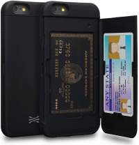 TORU CX PRO iPhone 6S Wallet Case with Hidden Credit Card Holder ID Slot Hard Cover & Mirror for iPhone 6S / iPhone 6 - Matte Black