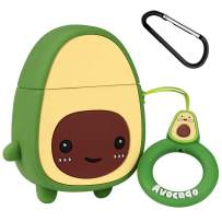 Mulafnxal Compatible with Airpods 1&2 Case,Cute Cartoon Character Silicone Airpod Cover,Kawaii Fun Cool Design Skin,Fashion Fruit Designer Funny Cases for Girls Kids Teens Boys Air pods(3D Avocado)