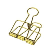 2020 Metal Binder Clips, Office Supplies, Hollowing clamp clps, Student Stationery, Paper Clip Boxes, Skeleton Clip (Medium, 1.26 Inch, 10 Pack, Gold)