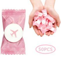 VanFn Disposable Towel, Compressed Towel, Mini Disposable Compressed Washcloth, Cotton Portable Disposable Compressed Towels Perfect for Travel, Home & Outdoor Activities, Nacai Series (50)