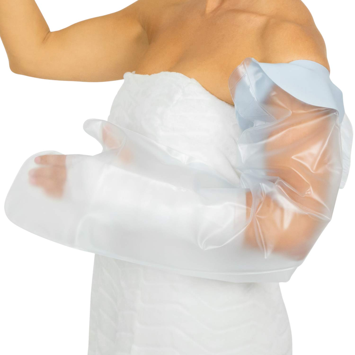 Vive Arm Cast Cover for Shower - Waterproof Bandage Protector for Bath - Adult Water Resistant Reusable Dry Bag Sleeve for Broken Hand and Wrist- Watertight Protection - Tight, Universal Seal