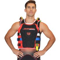 Jettribe Youth Boys Girls Life Vest | Impact Chest Plate | Side Entry | Rescue Handles 17.2 Series | PWC Racing Competition