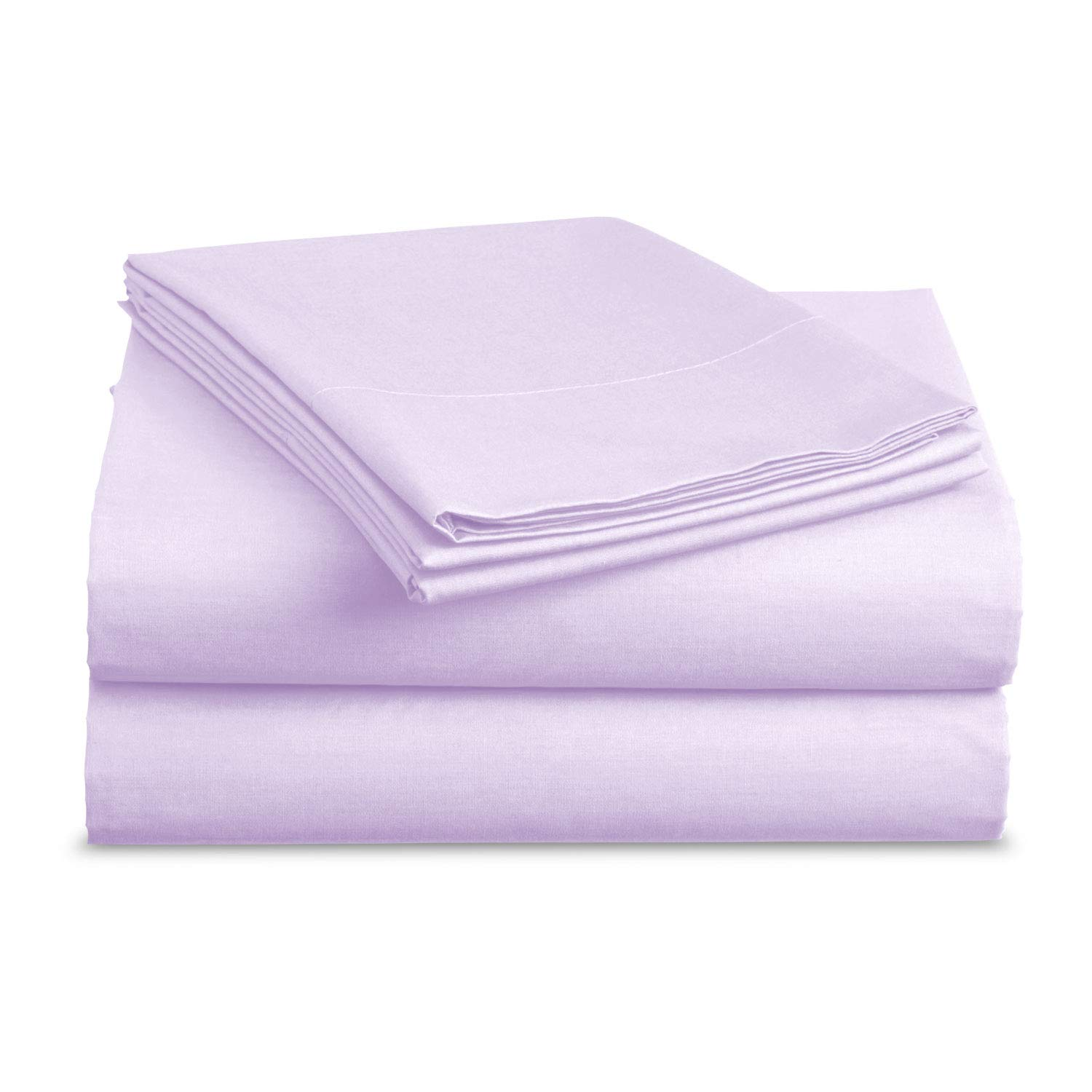 BASIC CHOICE Bed Sheet Set - Brushed Microfiber 2000 Bedding - Wrinkle, Fade, Stain Resistant - Hypoallergenic - 3 Piece (Twin, Lavender)