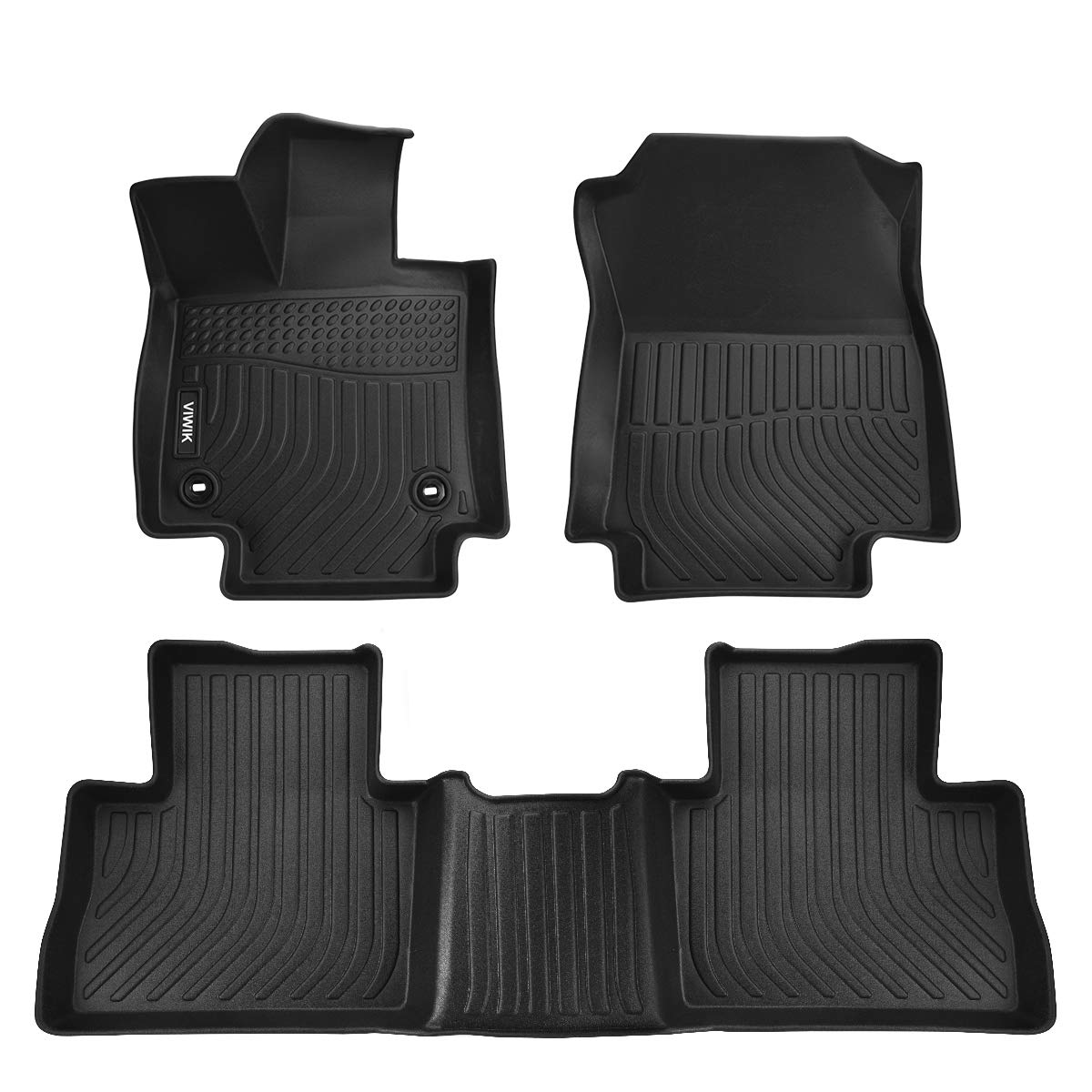 VIWIK Floor Mats for 2019-2020 Toyota RAV4, TPE Front and Rear Floor Liner Set for Toyota RAV4, Tough, Durable and Eco-Friendly, 100% Safe