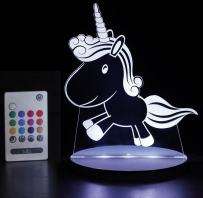 Tulio Dream Lights Prancing Unicorn Multi-Use, Multi-Color Night Light