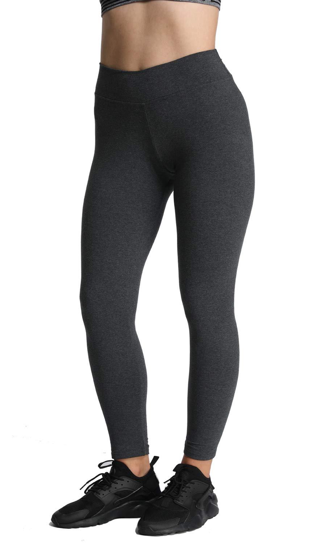 iloveSIA Women's High Waist Workout Leggings Stretch Cotton Yoga Leggings