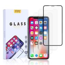 JESOHO 3D Full Coverage Screen Protector for iPhone X/XS/11 Pro, 3D Touch, 9H Hardness, HD Clear Film, Anti-Scratches, Anti-Fingerprint Tempered Glass (1+2 Packs)