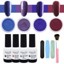 Honey Joy Dip Powder Nail Kit for 4 Colors System Starter Kit Acrylic Dipping System,4 PCS Dipping Powder,4 PCS 15ml Liquid Nail Kit Red Hot Pink Acrylic Set,(4x15ml-30-27-49-55-18g)
