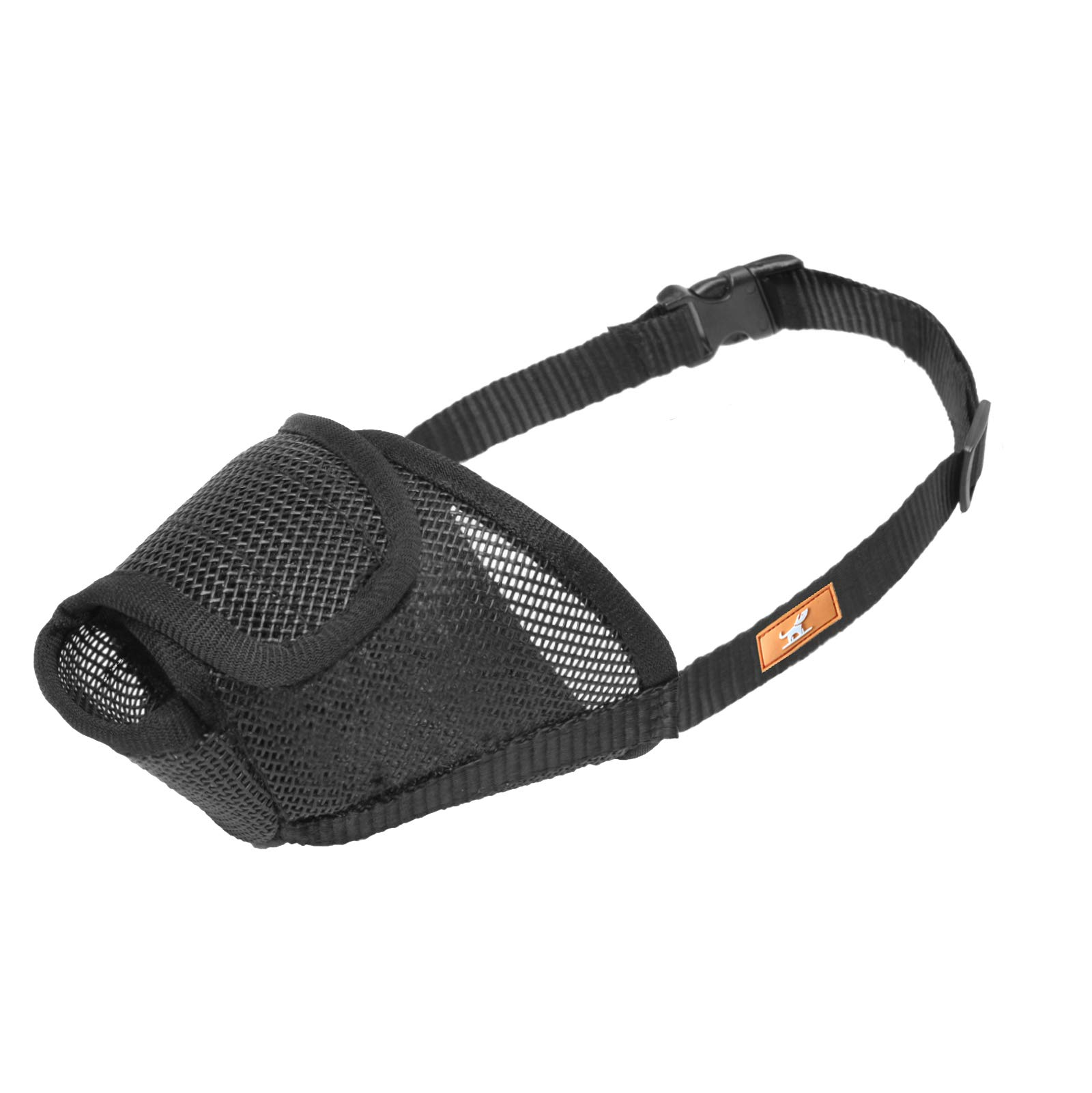 Dog Muzzle Mesh with Overhead Strap, Breathable Mask Mouth Guard Muzzle for Dogs Prevent Biting Chewing, Adjustable