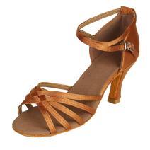 HIPPOSEUS Women's Classical Latin Dance Shoes Ballroom Party Practice Performance Sandals,Model 2324