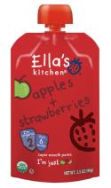 Ella's Kitchen Organic 6+ Months Baby Food, Apples and Strawberries, 3.5 oz. Pouch
