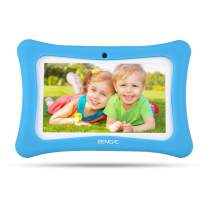 Upgrade Kids Tablet 7inch Education babypad with Quad Core, 1+8GB, HD Eye Protection LCD, WiFi, Dual Cameras and Android 7.1, Installed Kids Software, Kids-Proof case, Great Children Day Gift (Blue)
