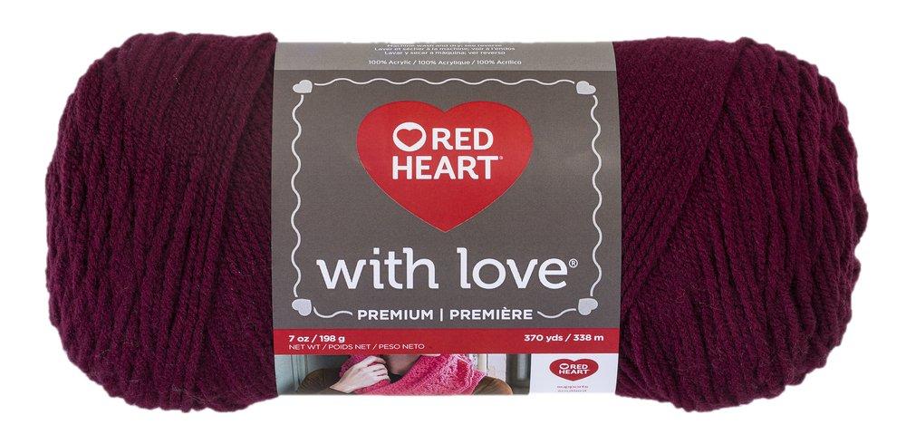 Red Heart With Love Yarn, Merlot